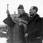 Mladá Boleslav, 5. února 1945. S malířem Andrejem Rjazanovem.